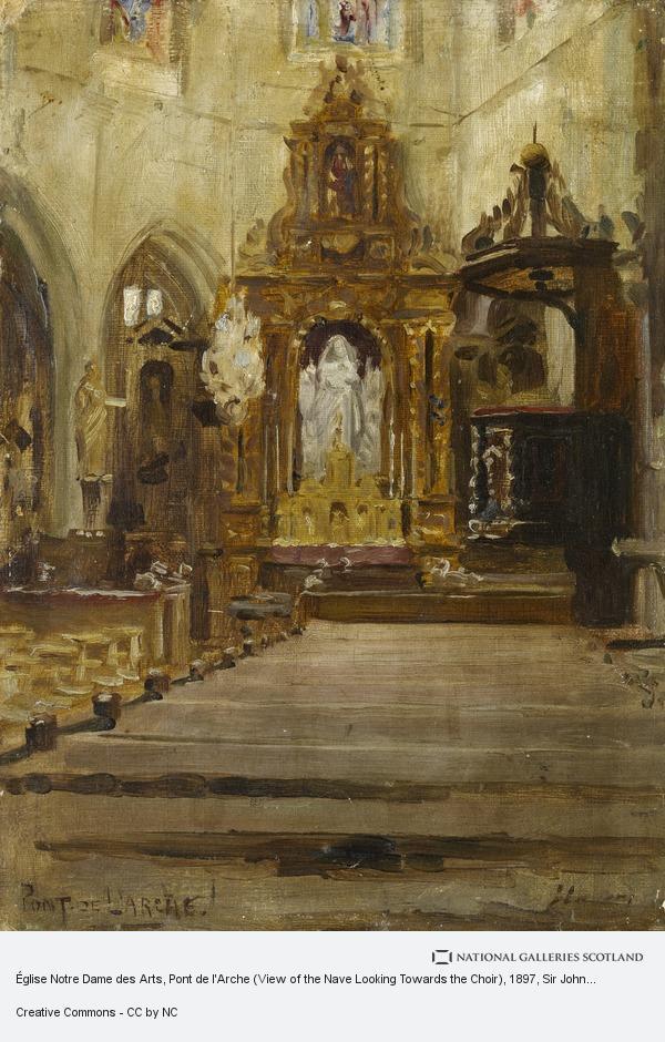 Sir John Lavery, Église Notre Dame des Arts, Pont de l'Arche (View of the Nave Looking Towards the Choir)
