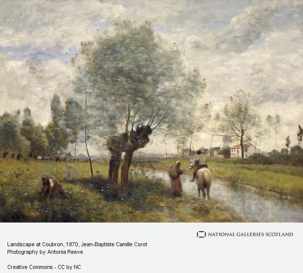 Jean-Baptiste Camille Corot, Landscape at Coubron