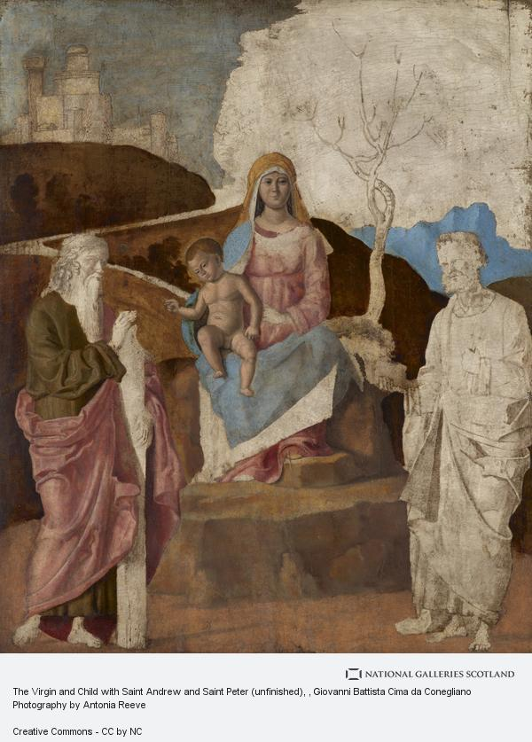 Giovanni Battista Cima da Conegliano, The Virgin and Child with Saint Andrew and Saint Peter (unfinished)