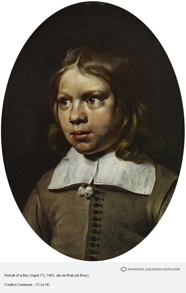 Jan de Braij (de Bray), Portrait of a Boy (Dated 1662)