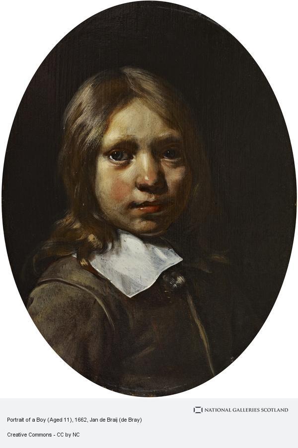 Jan de Braij (de Bray), Portrait of a Boy (Aged 7) (Dated 1663)