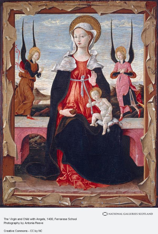 Ferrarese School, The Virgin and Child with Angels (15th century)