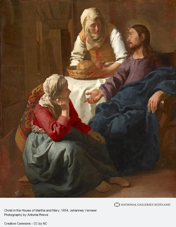 Johannes (Jan) Vermeer, Christ in the House of Martha and Mary (About 1654 - 1656)