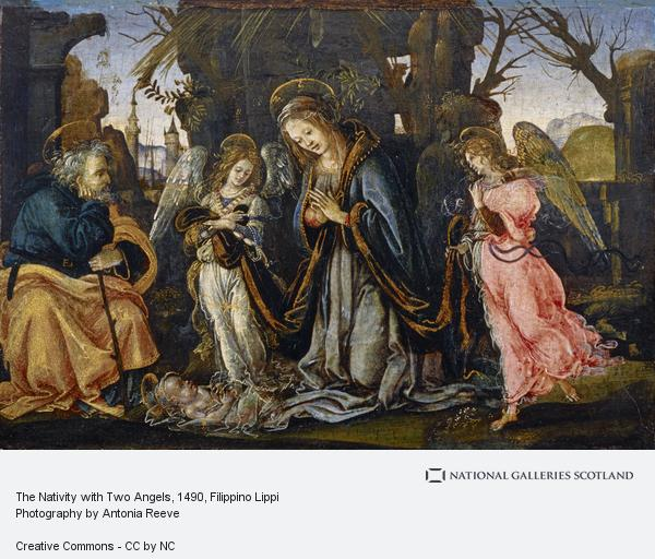 Filippino Lippi, The Nativity with Two Angels (possibly early 1490s)