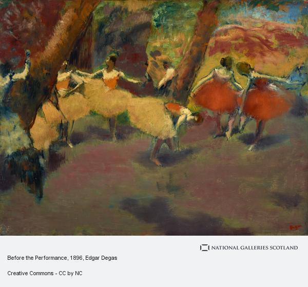 Hilaire-Germain-Edgar Degas, Before the Performance (About 1896 - 1898)