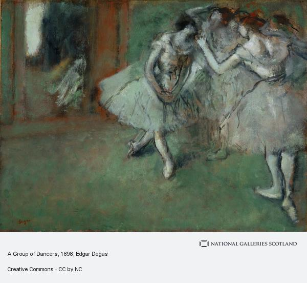 Hilaire-Germain-Edgar Degas, A Group of Dancers (About 1898)