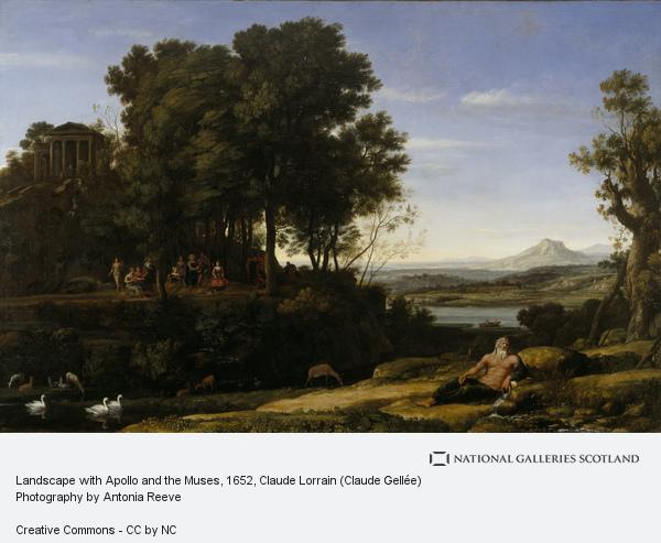 Claude Lorrain (Claude Gellée), Landscape with Apollo and the Muses