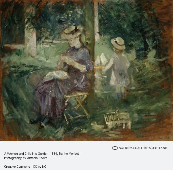 Berthe Morisot, A Woman and Child in a Garden