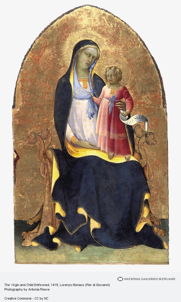 Lorenzo Monaco (Pier di Giovanni), The Virgin and Child Enthroned (About 1418)