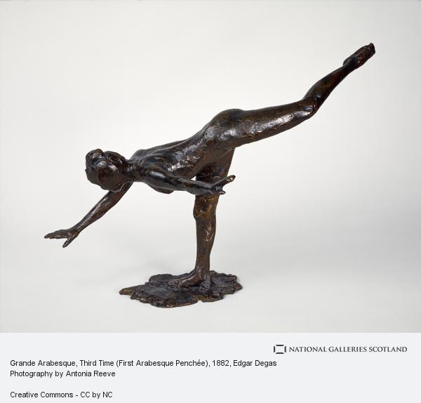 Hilaire-Germain-Edgar Degas, Grande Arabesque, Third Time (First Arabesque Penchée) (About 1882 - 1895)