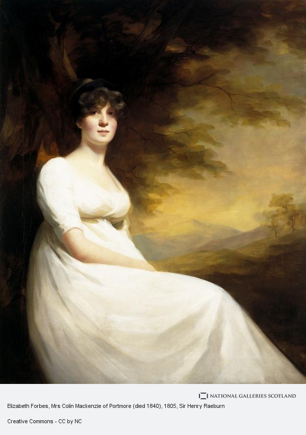 Sir Henry Raeburn, Elizabeth Forbes, Mrs Colin Mackenzie of Portmore (died 1840)