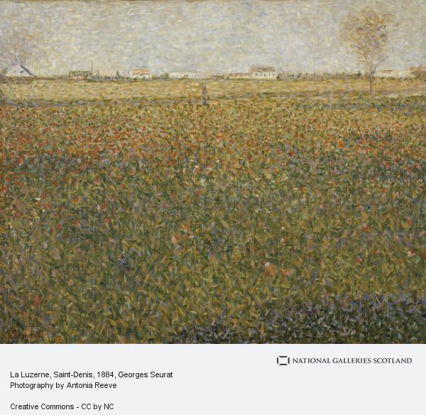 Georges Seurat, La Luzerne, Saint-Denis (1884 - 1885)