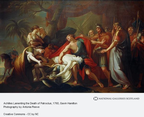Gavin Hamilton, Achilles Lamenting the Death of Patroclus