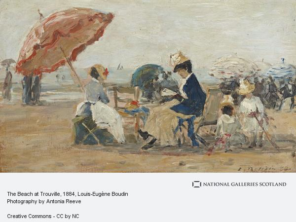Louis-Eugene Boudin, The Beach at Trouville (Dated 1884)