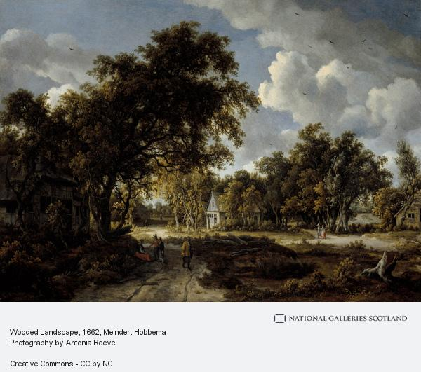 Meindert Hobbema, Wooded Landscape (About 1662 - 1663)