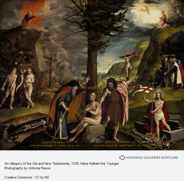 Hans Holbein the Younger, An Allegory of the Old and New Testaments (early 1530s)