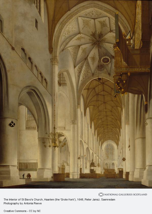 Pieter Jansz. Saenredam, The Interior of St Bavo's Church, Haarlem (the 'Grote Kerk')