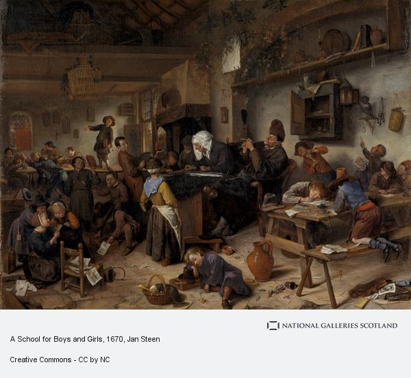 Jan Steen, A School for Boys and Girls