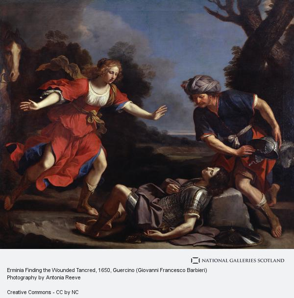Guercino (Giovanni Francesco Barbieri), Erminia Finding the Wounded Tancred