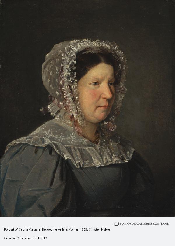 Christen Købke, Portrait of Cecilia Margaret Købke, the Artist's Mother (1829)