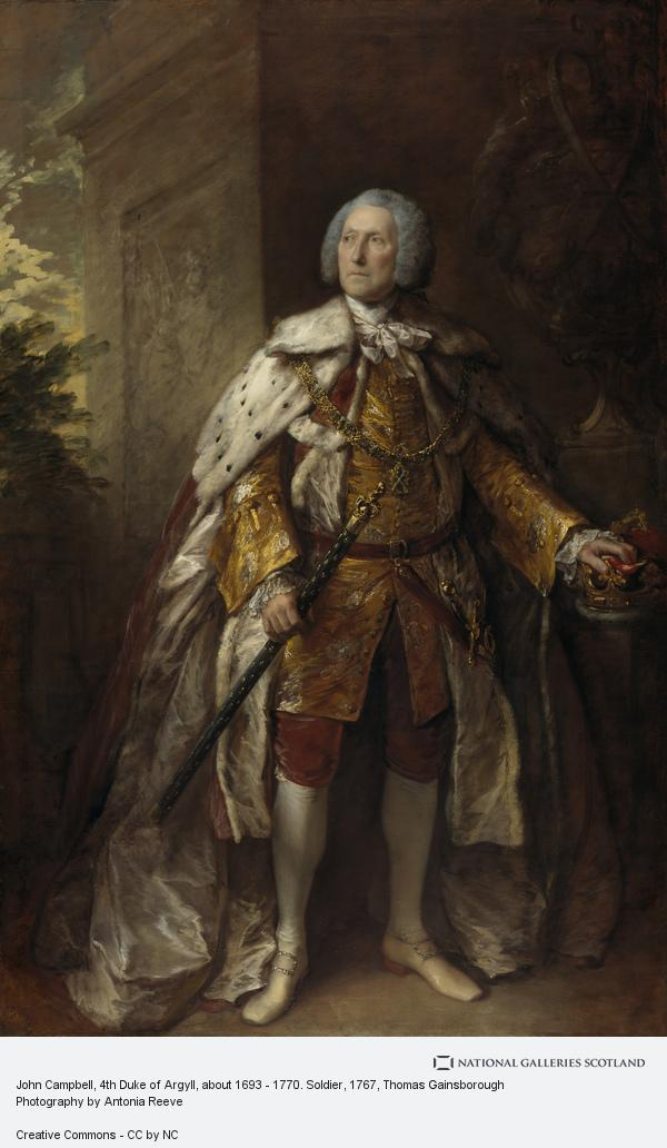 Thomas Gainsborough, John Campbell, 4th Duke of Argyll, about 1693 - 1770. Soldier