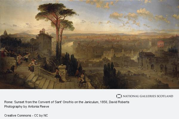 David Roberts, Rome: Sunset from the Convent of Sant' Onofrio on the Janiculum