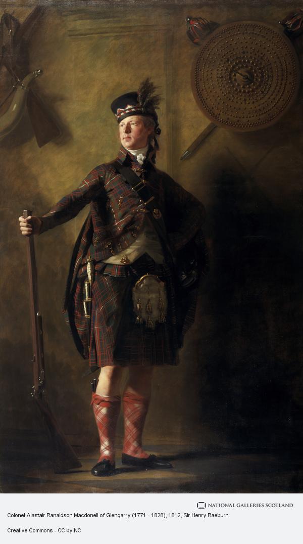 Sir Henry Raeburn, Colonel Alastair Ranaldson Macdonell of Glengarry (1771 - 1828) (exhibited 1812)