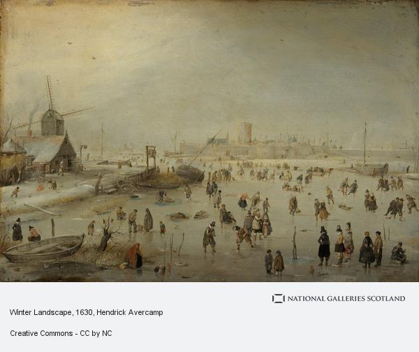 Hendrick Avercamp, Winter Landscape (About 1630)