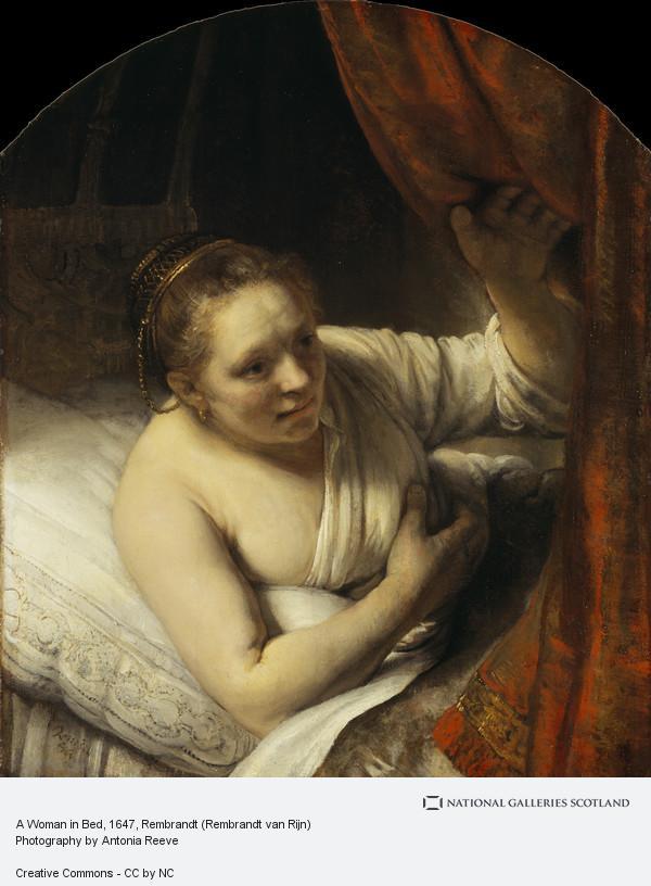 Rembrandt (Rembrandt Harmensz van Rijn), A Woman in Bed