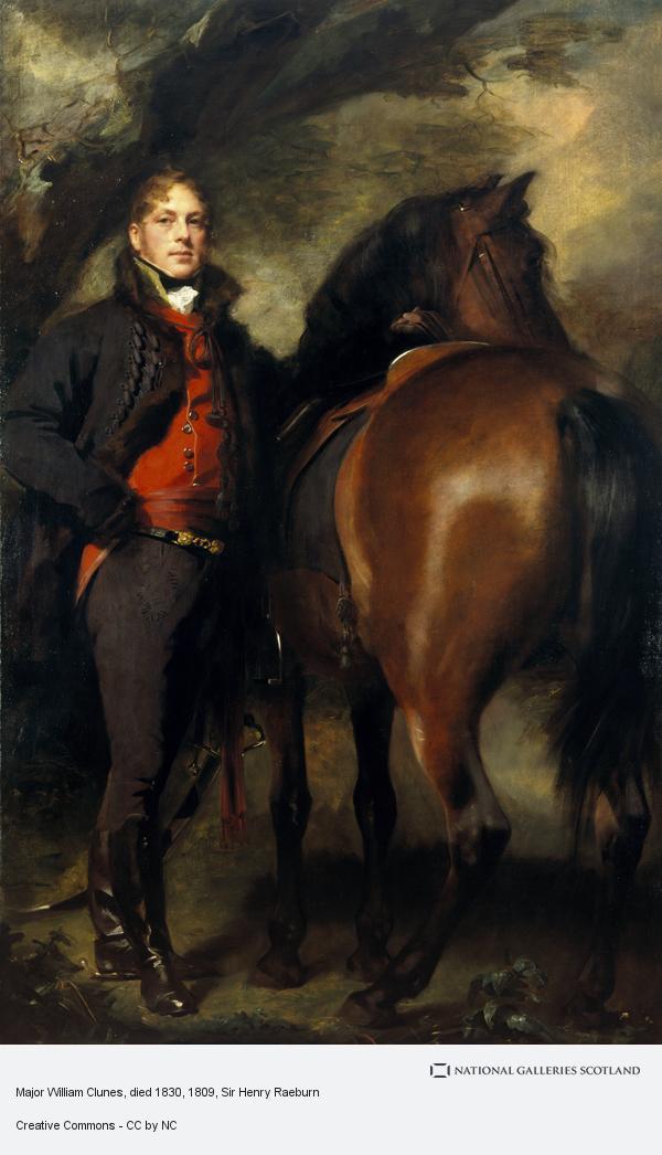 Sir Henry Raeburn, Major William Clunes, died 1830