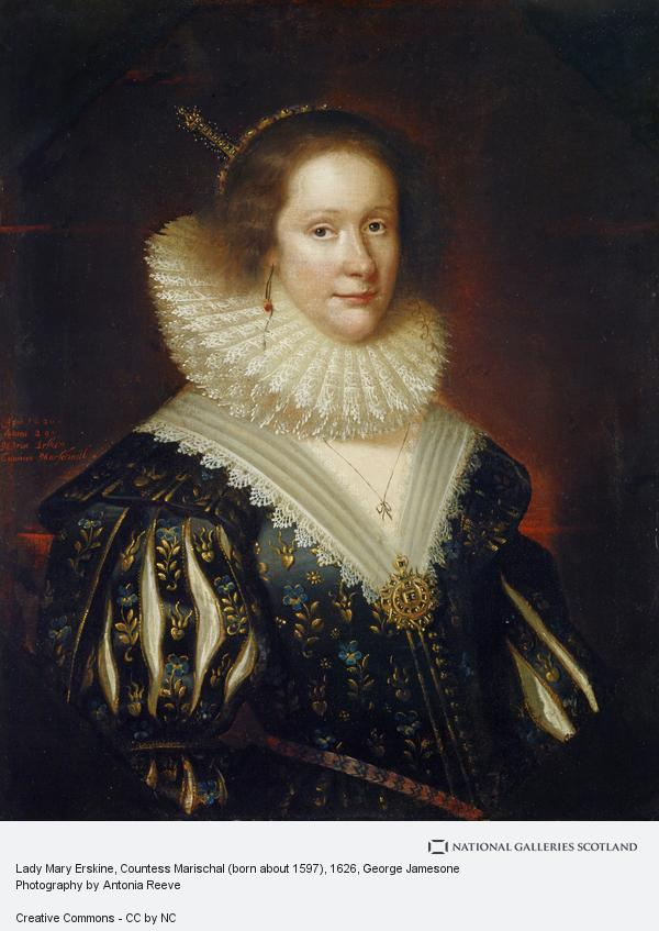 George Jamesone, Lady Mary Erskine, Countess Marischal (born about 1597) (1626)