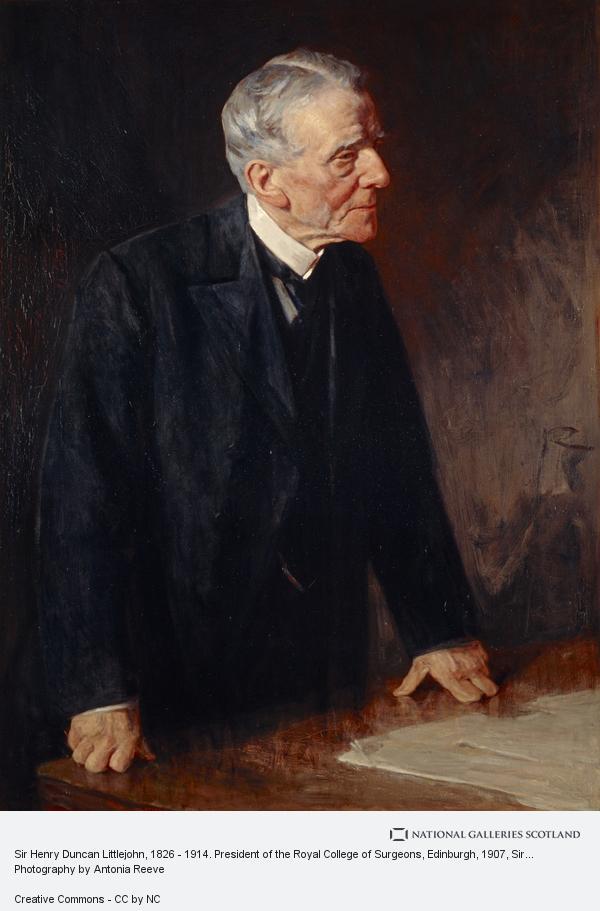Sir George Reid, Sir Henry Duncan Littlejohn, 1826 - 1914. President of the Royal College of Surgeons, Edinburgh