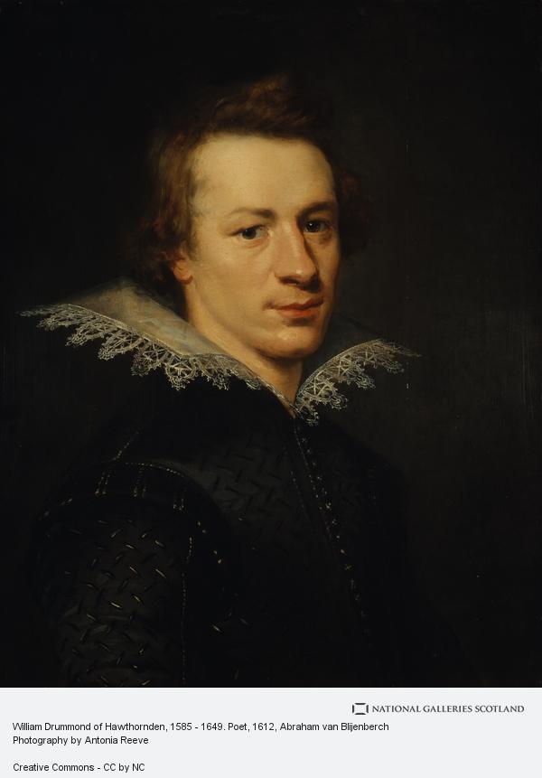 Abraham van Blijenberch, William Drummond of Hawthornden, 1585 - 1649. Poet (1612)