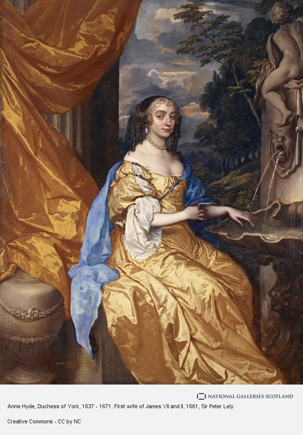 Sir Peter Lely, Anne Hyde, Duchess of York, 1637 - 1671. First wife of James VII and II