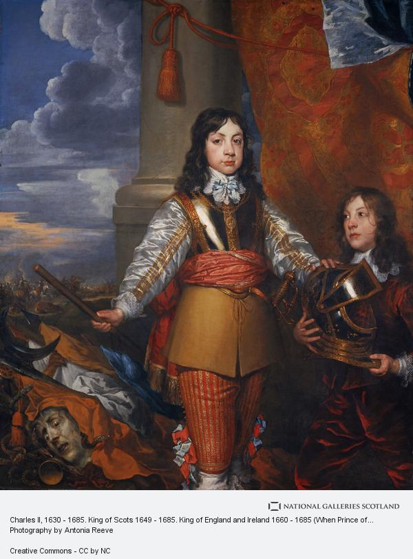 William Dobson, Charles II, 1630 - 1685. King of Scots 1649 - 1685. King of England and Ireland 1660 - 1685 (When Prince of Wales, with a page) (About 1642)