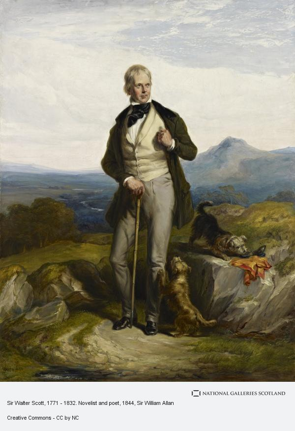 Sir William Allan, Sir Walter Scott, 1771 - 1832. Novelist and poet