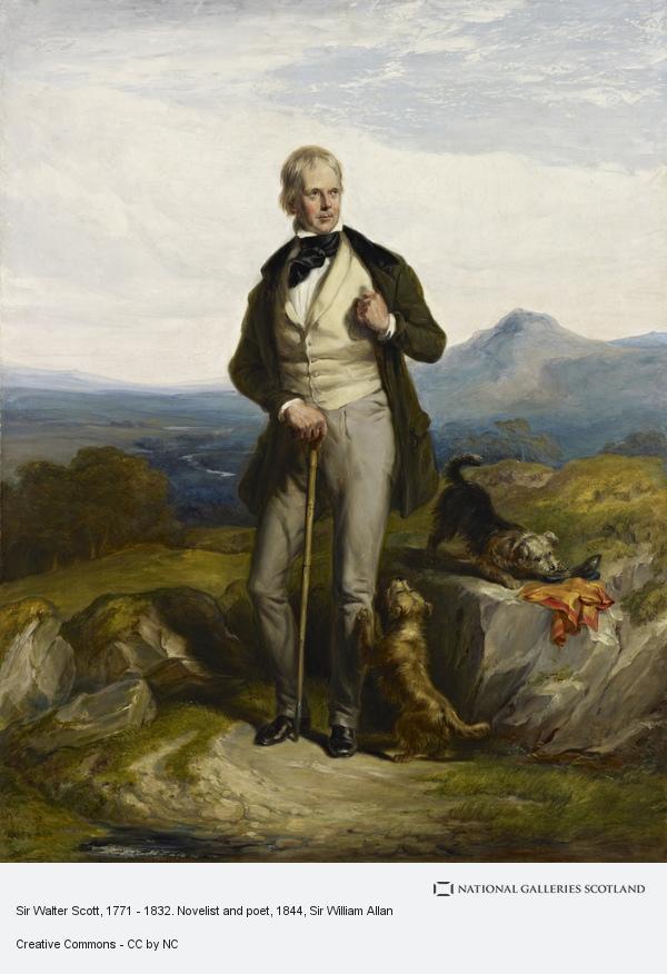 Sir William Allan, Sir Walter Scott, 1771 - 1832. Novelist and poet (About 1844)