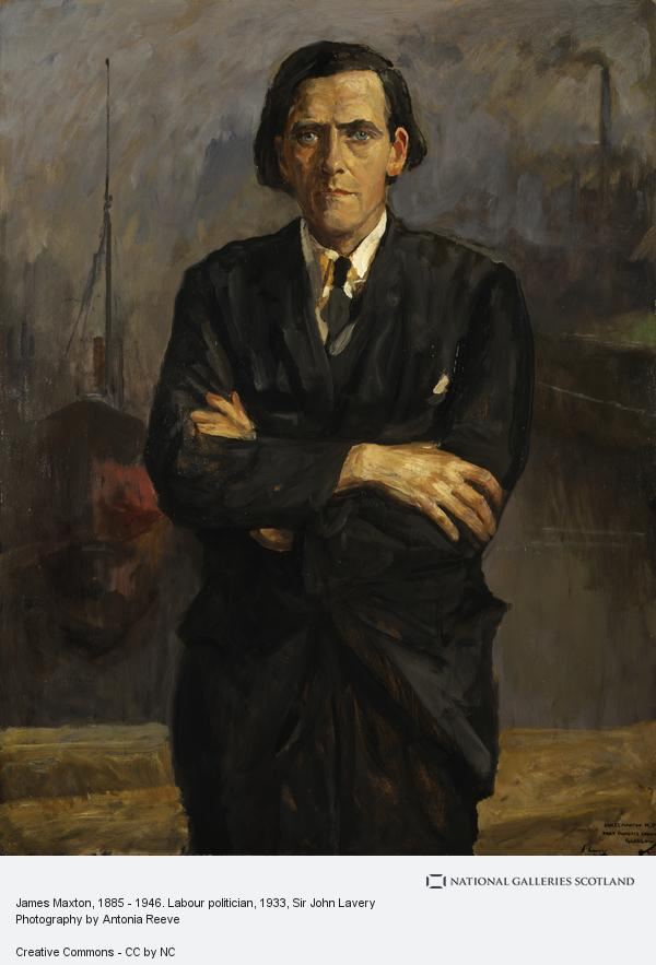 Sir John Lavery, James Maxton, 1885 - 1946. Labour politician