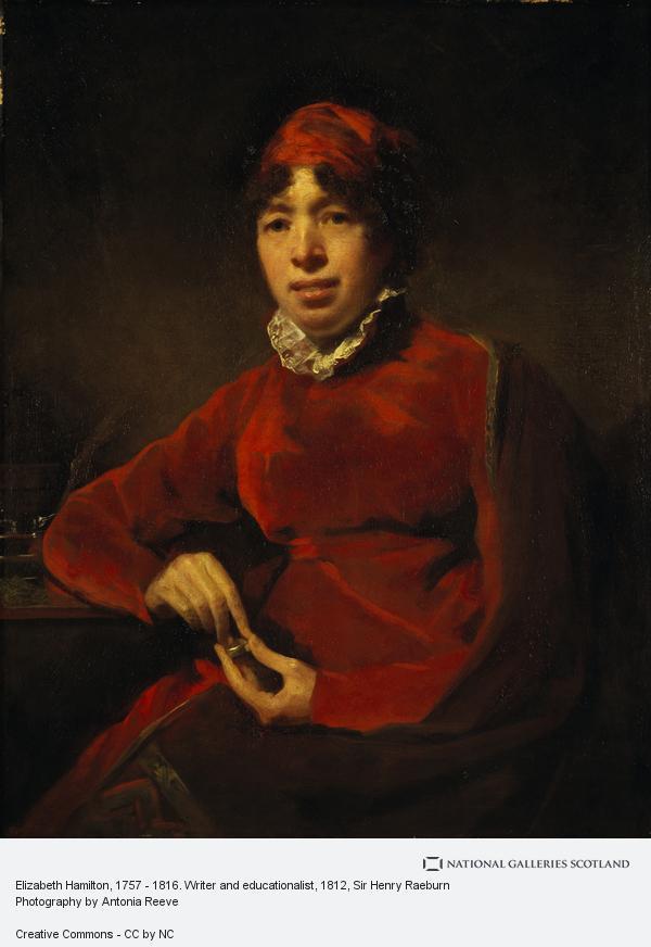 Sir Henry Raeburn, Elizabeth Hamilton, 1757 - 1816. Writer and educationalist