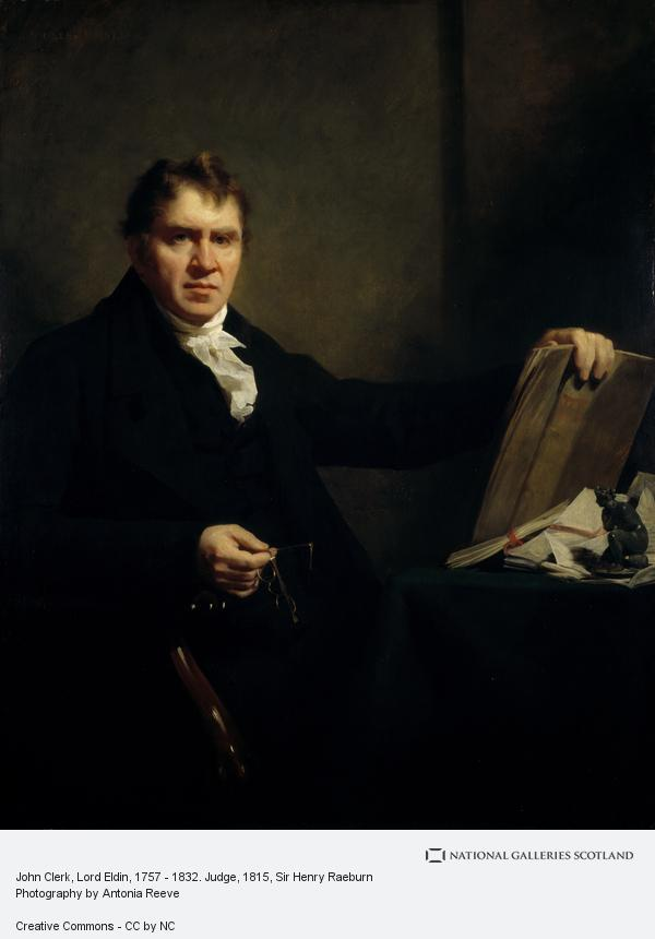Sir Henry Raeburn, John Clerk, Lord Eldin, 1757 - 1832. Judge (About 1815)