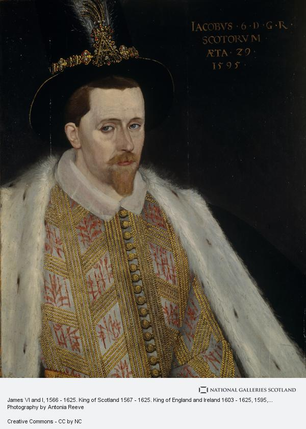 Adrian Vanson, James VI and I, 1566 - 1625. King of Scotland 1567 - 1625. King of England and Ireland 1603 - 1625 (1595)