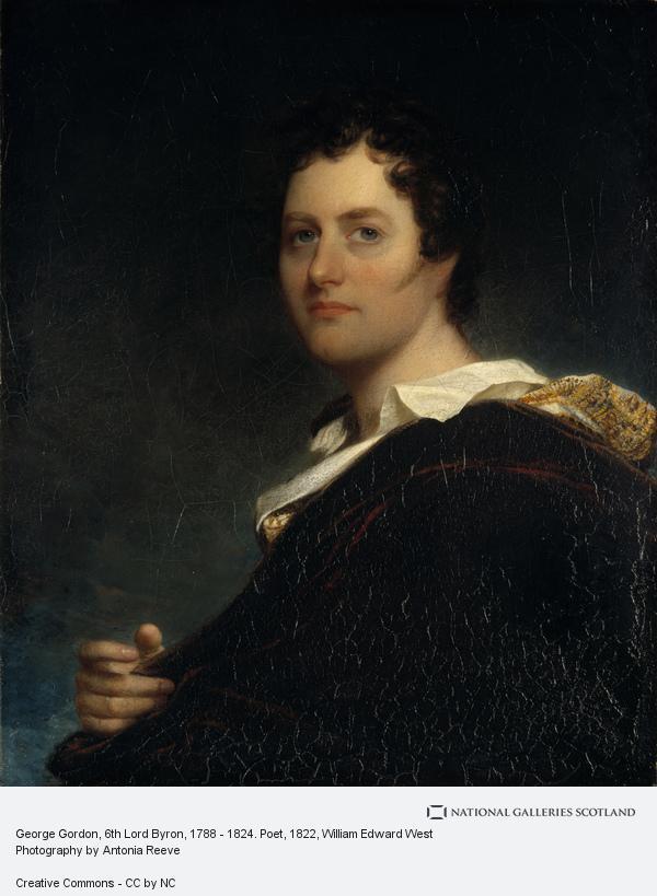 William Edward West, George Gordon, 6th Lord Byron, 1788 - 1824. Poet (1822)