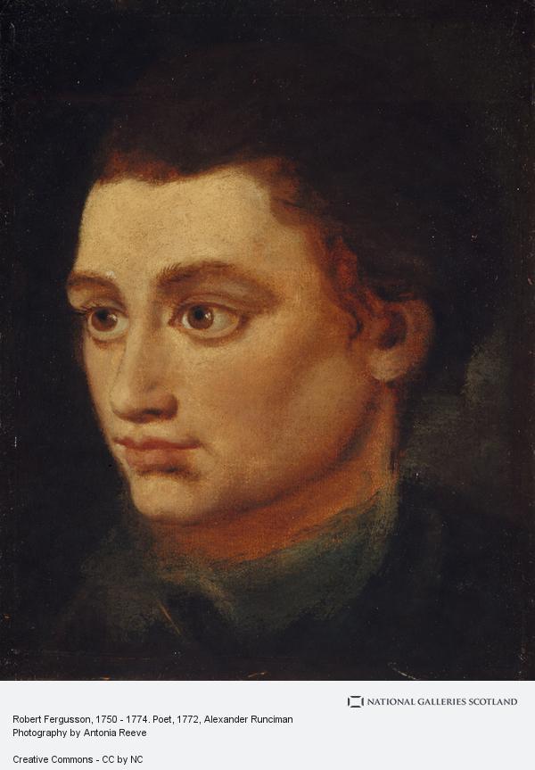 Alexander Runciman, Robert Fergusson, 1750 - 1774. Poet (About 1772)