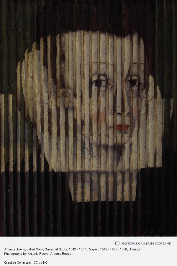 Unknown, Anamorphosis, called Mary, Queen of Scots, 1542 - 1587. Reigned 1542 - 1567.