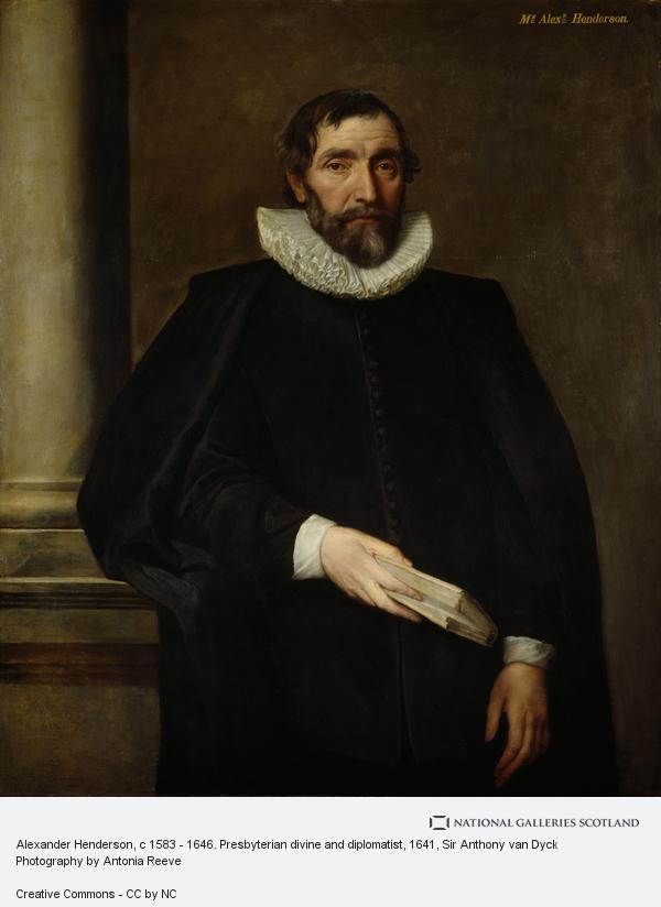 Sir Anthony van Dyck, Alexander Henderson, c 1583 - 1646. Presbyterian divine and diplomatist