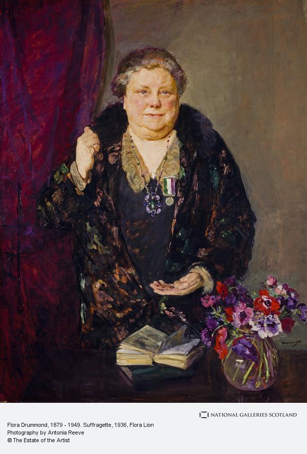 Flora Lion, Flora Drummond, 1879 - 1949. Suffragette