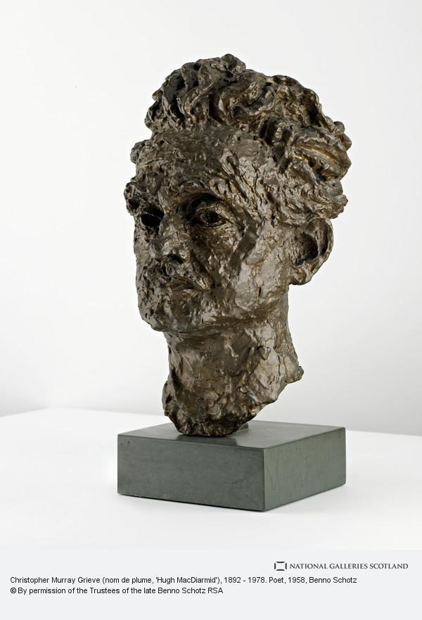 Benno Schotz, Christopher Murray Grieve (nom de plume, 'Hugh MacDiarmid'), 1892 - 1978. Poet
