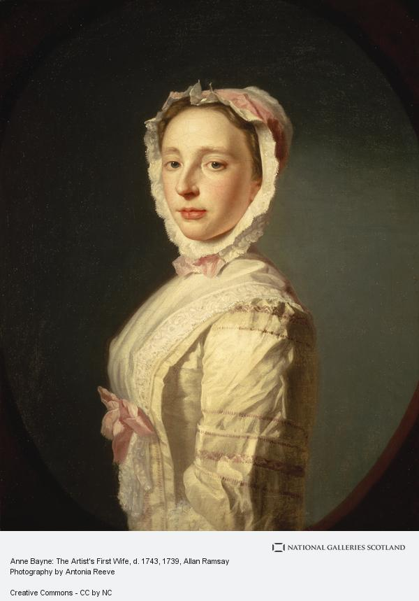 Allan Ramsay, Anne Bayne, Mrs Allan Ramsay, d. 1743. Wife of the artist Allan Ramsay (About 1739)