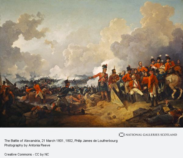 Philip James de Loutherbourg, The Battle of Alexandria, 21 March 1801 (1802)