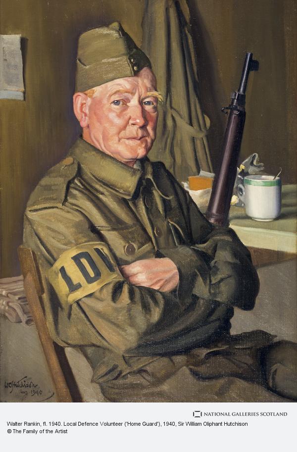 Sir William Oliphant Hutchison, Walter Rankin, fl. 1940. Local Defence Volunteer ('Home Guard')